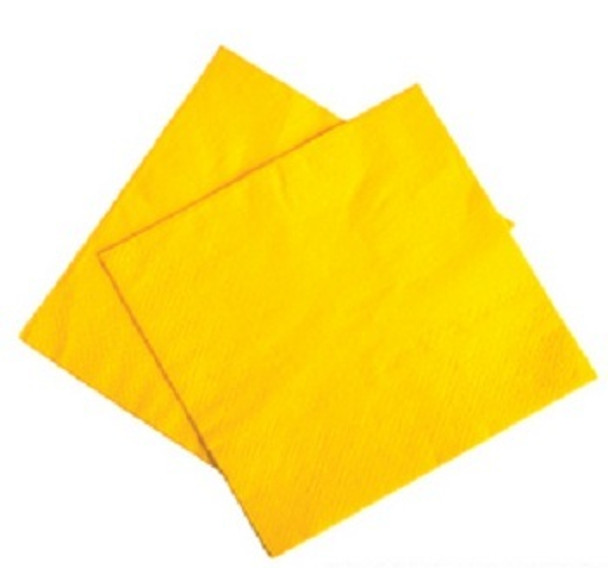 """Yellow Party Napkins 10"""" 50 Pack 10478"""