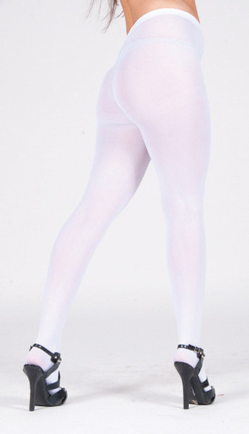 Super Control Top White Tights Opaque 12 PACK 8065D