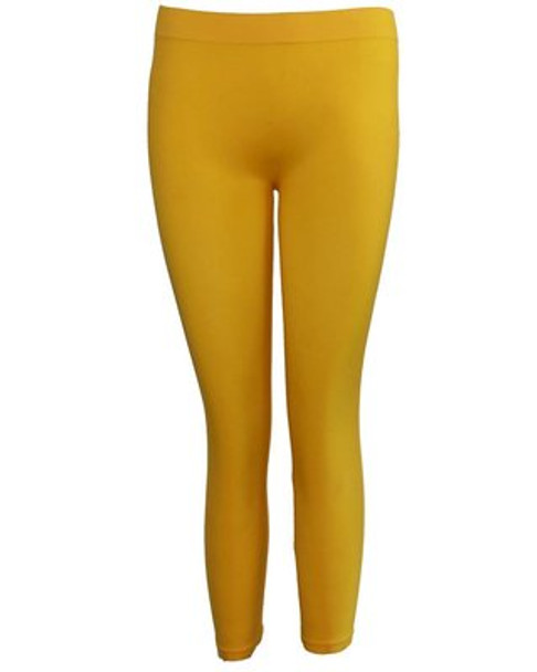 Premium Opaque Yellow Footless Leggings Cotton/Polyester  12 PACK 8095D