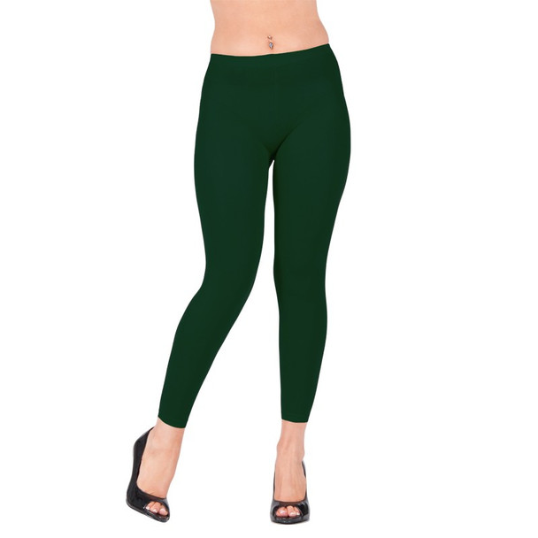Premium Opaque Hunter Green Footless Leggings Cotton/Polyester 12 PACK 8099D