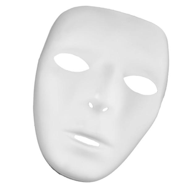 White Masks Adult Bulk 12 PACK 1662D