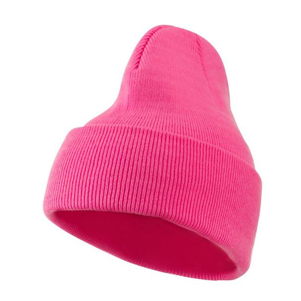 Hot Pink Beanie Retro Long Hat 5765