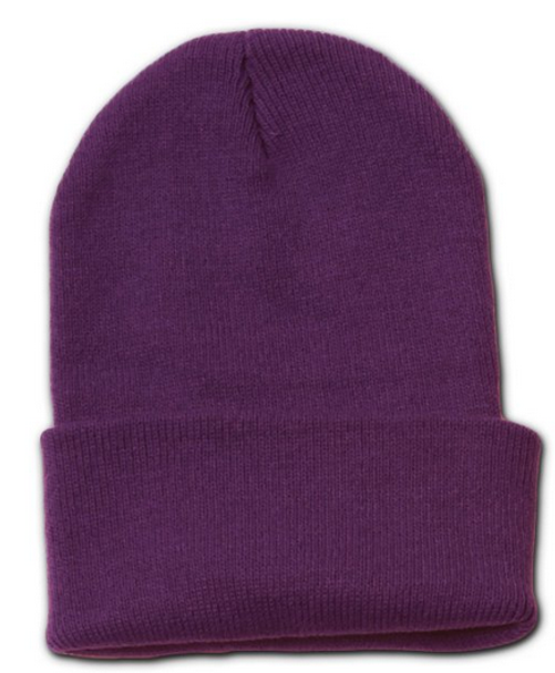 Long Beanie Hat Purple 5745