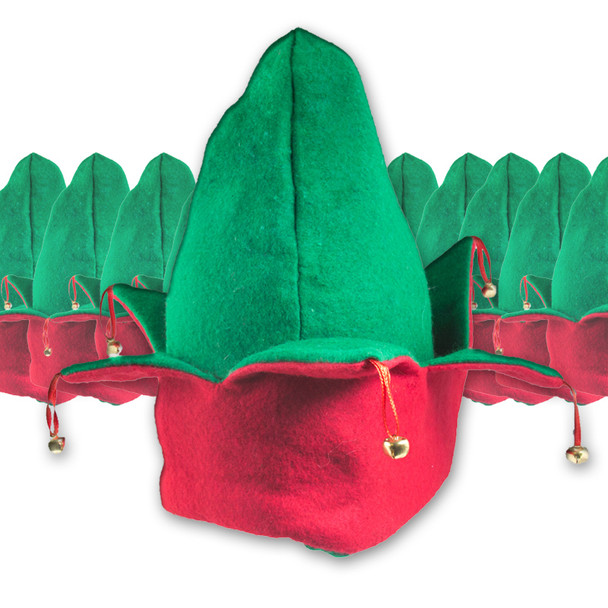 Elf Hats Bulk | Adult 1418D 12 PACK