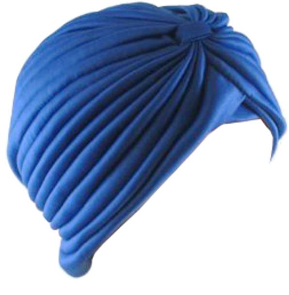 Royal Blue Turban Head Cover Hat 5978