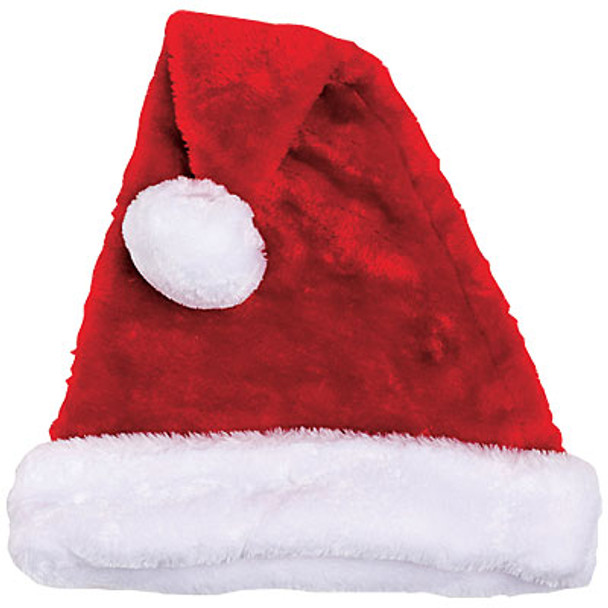 Santa Hat Plush Adult Bulk 1443D 12 PACK