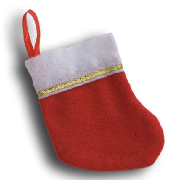 Mini Christmas Stockings Bulk 12 PACK 9223D