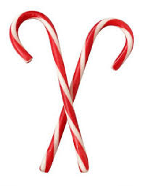 Red and White Peppermint Candy Canes 11087