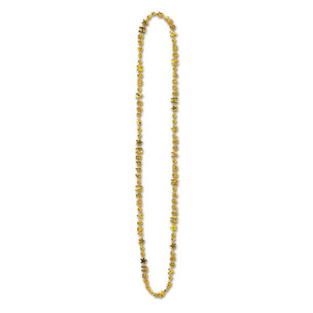 12 PACK New Years Beads Gold Bulk 6700D