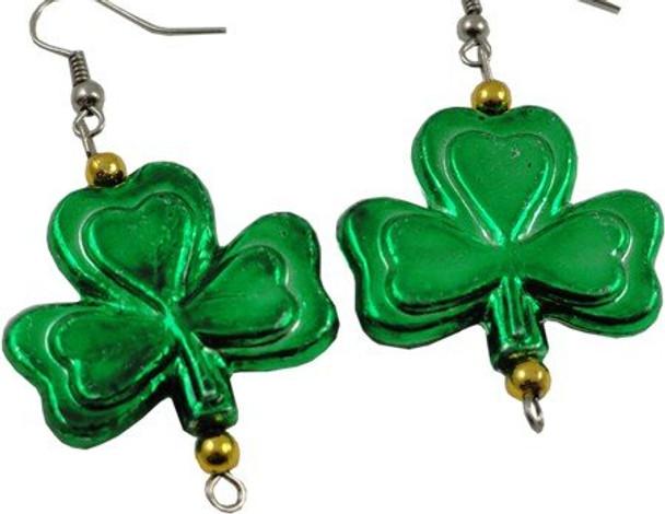 Shamrock Earrings PAIR St Patricks Irish Earrings 6648