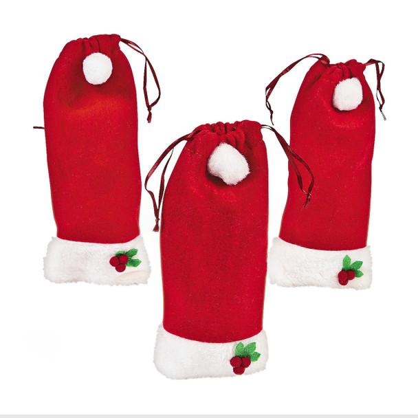 Santa hat gift bags