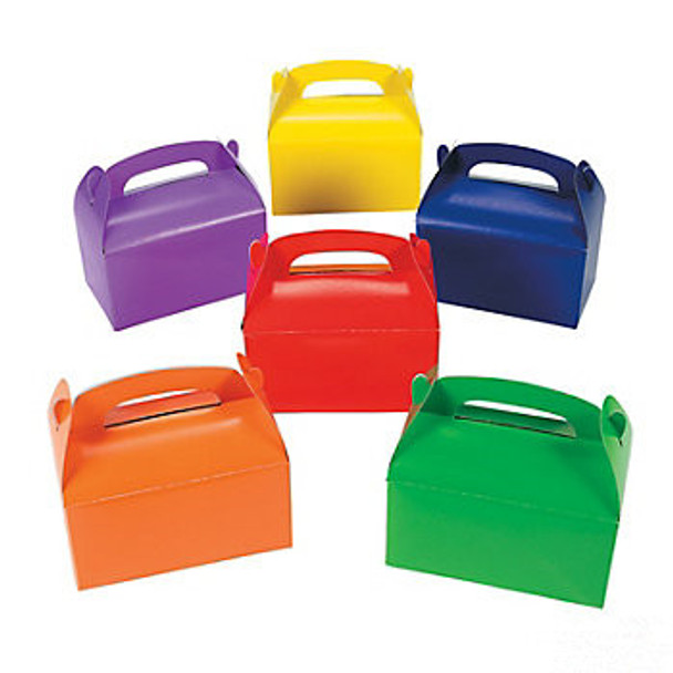 Treat Boxes Assorted Colors Bulk 12 PACK 3907D