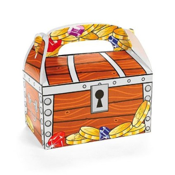 12 PACK Pirate Treasure Chest Treat Boxes 3908D