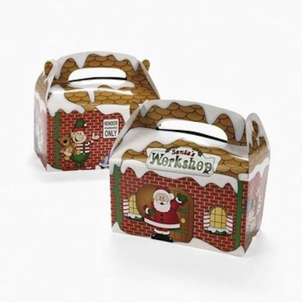 Santa's Workshop Treat Boxes Santas Gift Boxes Bulk 12 PACK 3916D