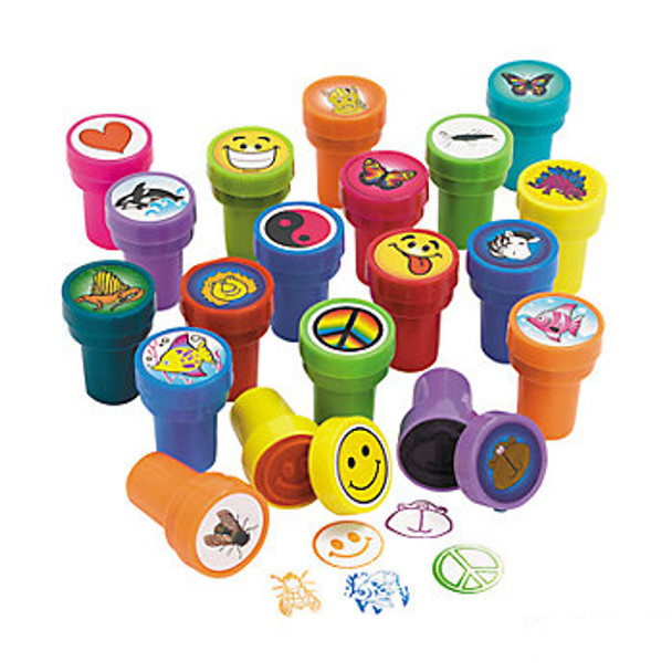 50 Assorted Plastic Stampers 3403