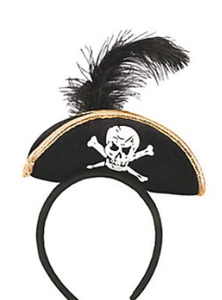 Mini Pirate Hat Headband   Mini Pirate Hat   5802