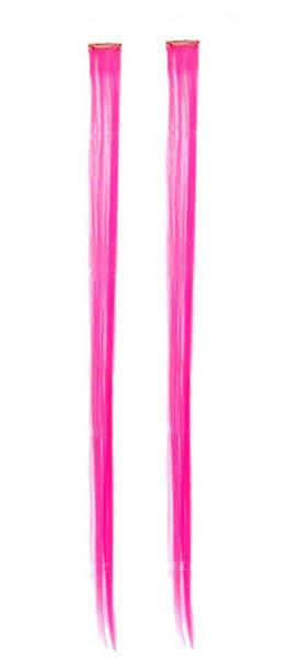 "Hot Pink Hair Extensions 12 PK  10"" WS6154D"