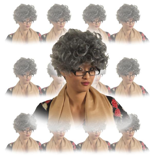 Grandma Wig Wholesale | Grandma Wig Bulk | 12 PACK WS6039D
