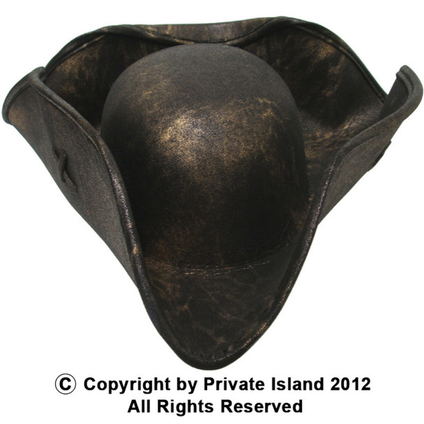 Brown Caribbean Tricorn Pirate Hat Adult Size 12 PACK WS1507D