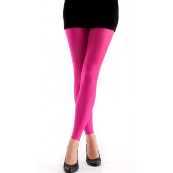 Neon Pink Footless Tights 12 PACK WS8016D