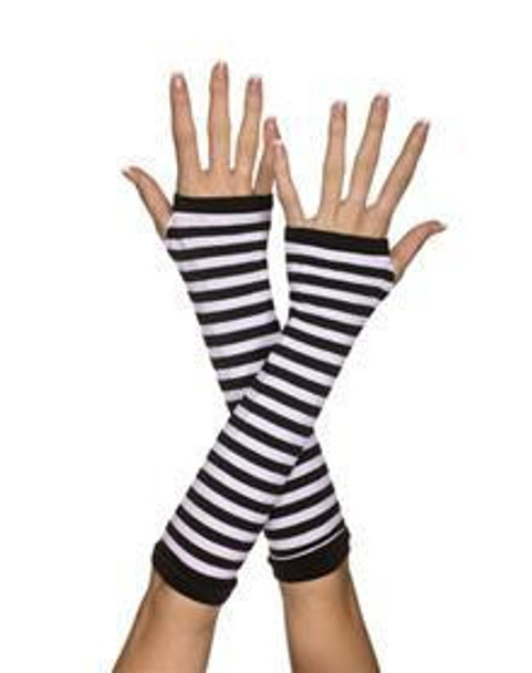 Arm Warmers | Arm Sleeves | Black/White 12 PACK WS1252D