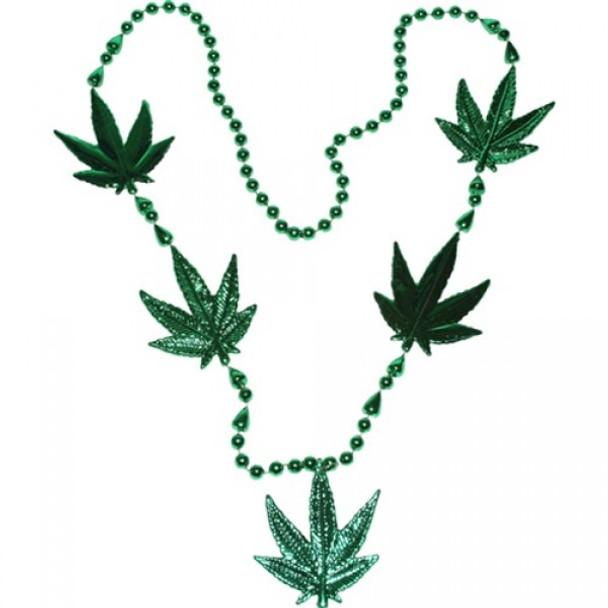 Marijuana Beads Necklace 42in 12PK Jumbo  9913