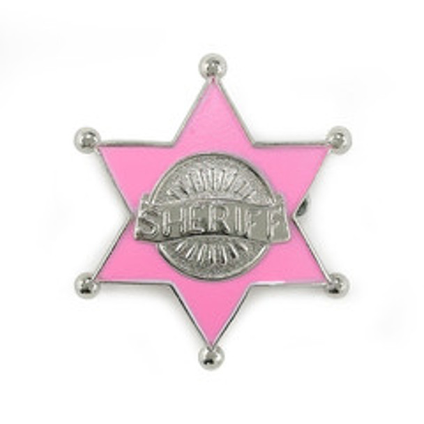 Cowgirl Accessories Pink Badge  12 PACK WS1802D