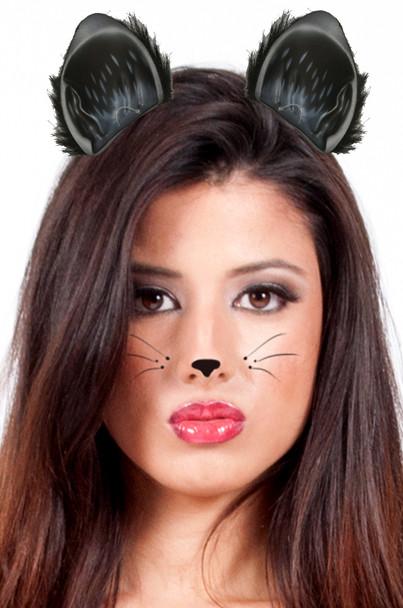 Black Cat Ears 12 PACK WS1677D