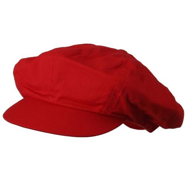 Newsie Hat | Newsboy Cap | Red Adult Rayon 12PK WS1403D