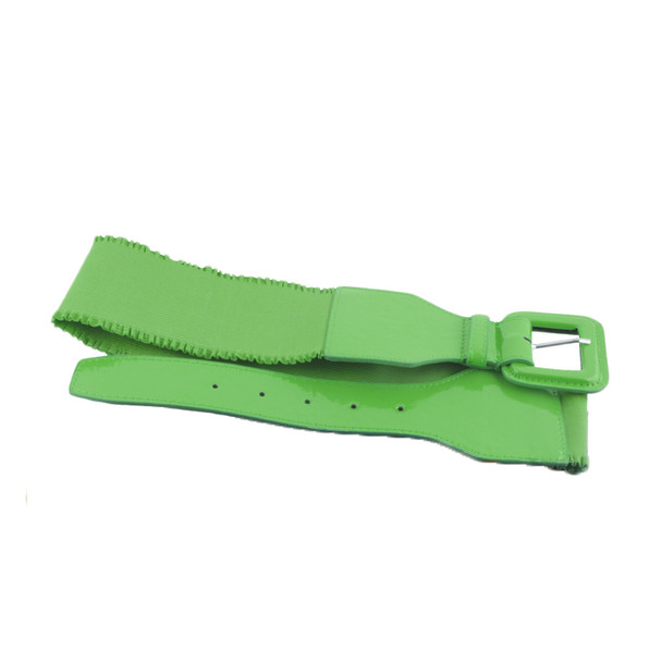 12 PACK Neon Green 80's Elastic Frill Belt WS2409D