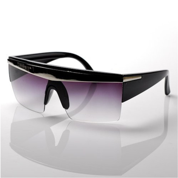 Lady Gaga Sunglasses | Gaga Costumes | Black Silver Stripe 1141A
