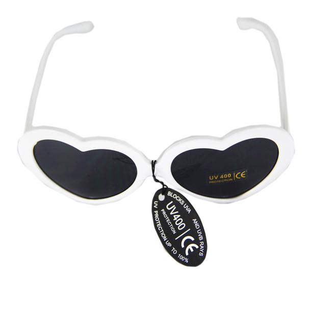 White Child Lolita Heart Shape Sunglasses 100% UV Superior Quality 1026