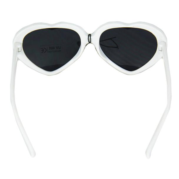 White Child Lolita Heart Shape Sunglasses 1026