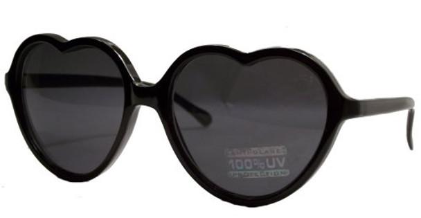 Black Child Lolita Heart Shape Sunglasses 100% UV Superior Quality WS1027