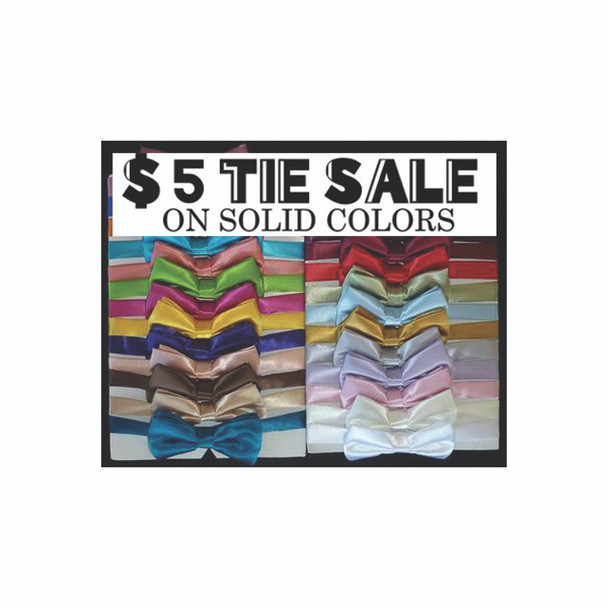 12 Pk Satin Bow Tie Deal - You Pick the Colors - We Ship 955