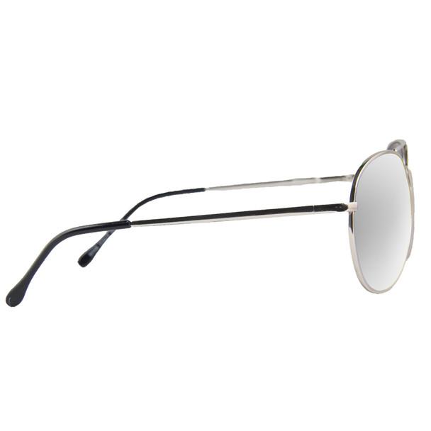 Bulk 12 PACK Aviator Sunglasses Silver Frame/Silver Mirror Lens1104D