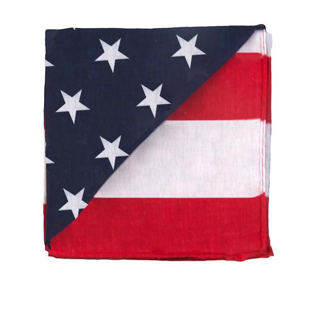 "12 PACK American Flag Bandanna 22"" Square Standard 100% Cotton1973D"