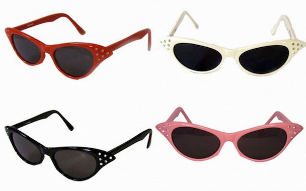 50's Cat Eye Sunglasses | w/ Rhinestones 12PK Mixed Colors 1190A