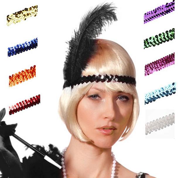 1920's Headpiece | Gatsby Headpiece | Flapper Headpiece Bulk | 1719DZ 12 PACK