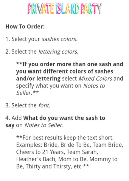 """Bachelorette Sashes, Custom Sashes for Bachelorette Parties 60"""" (Fonts in Picture Gallery)"""