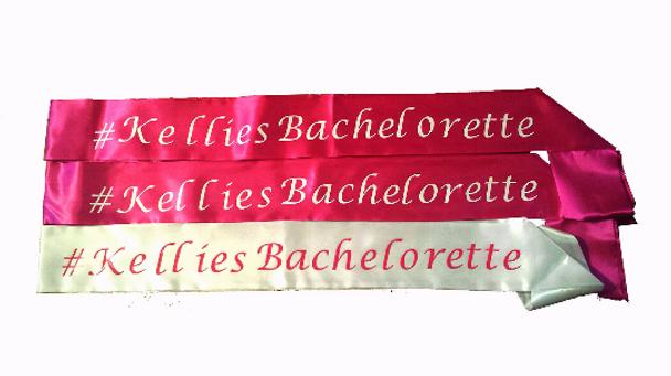 "Bachelorette Sashes   Bachelorette Party Sashes   Customized 60"""