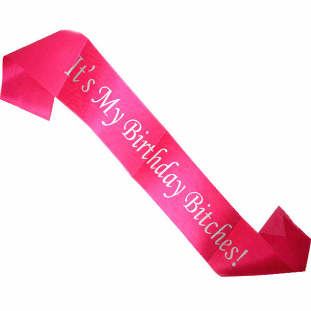 "Birthday Sash, Birthday Girl Sash, for Birthday Parties and Bdays Satin Quality 60"" (Fonts in Picture Gallery)"