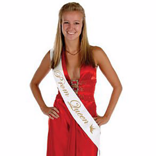 """Prom Queen Sashes, Personalized For Bridal Party, Wedding Party, Bachelorette, Prom or Homecoming 60"""" (Fonts in Picture Gallery)"""