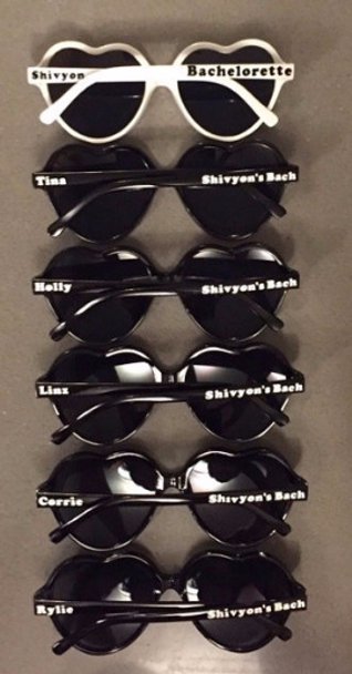 Customized Heart Sunglasses | Personalized Heart Sunglasses | 15050 (Fonts in Picture Gallery)