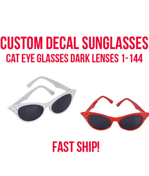 Halloween Cat Glasses Customized | Halloween Sunglasses | 15059 (Fonts in Picture Gallery)