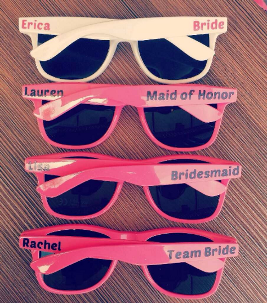 Anniversary Gift, Engagement Gifts, Personalized Sunglasses for Guests at Parties