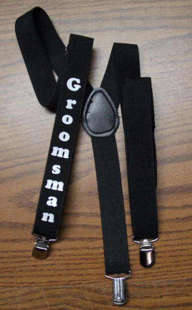 Customized Suspenders | in Many Colors  Adult & Kids Sizes | (Fonts in Picture Gallery)