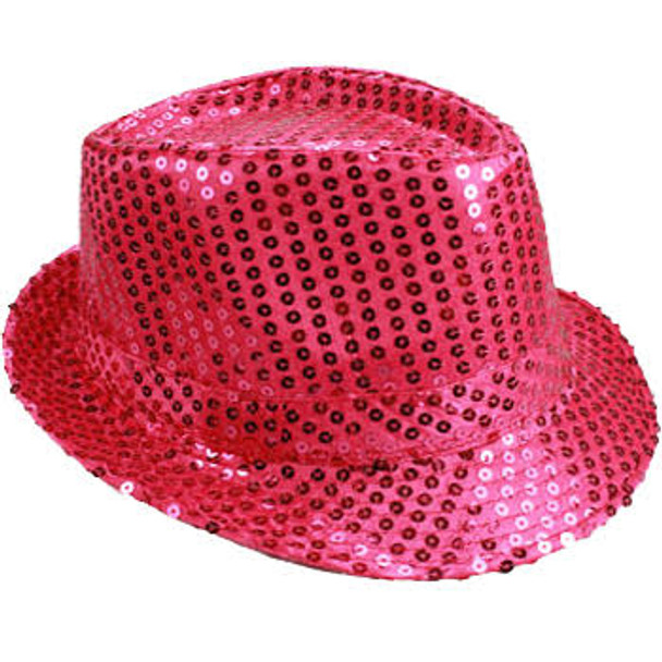 Bulk Pink Hats   Bulk Pink Fedoras   18001 Adult Size 12 PACK