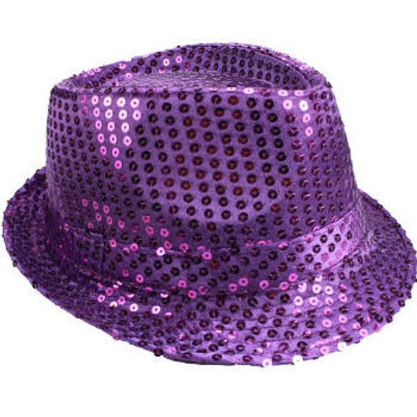 Bulk Purple Hats | Bulk Purple Fedoras | 18005 Adult Size 12 PACK