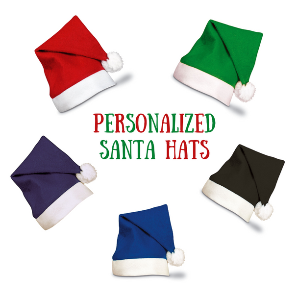 Unique Christmas Hats | Personalized Santa Hats | Santa Hat Ideas | Fonts in Picture Gallery